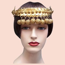 Oriental or Egyptian style headdress Art Deco evening or theatre headpiece