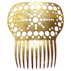 Large Victorian metal hair comb Spanish style hair accessory