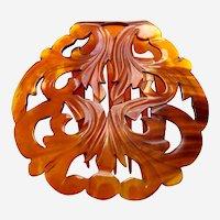 Victorian steer horn circular hair comb hair ornament