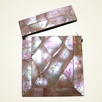 Victorian mother of pearl visiting or calling card case
