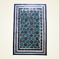 Victorian mosaic visiting or calling card case Anglo Indian