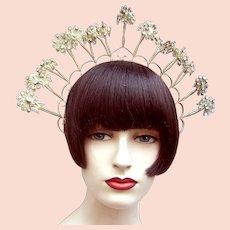Indonesia Java traditional wedding headdress trembler flowers headpiece