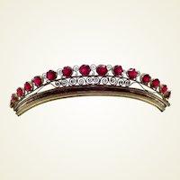 Regency period fire gilded tiara garnet stones hair ornament