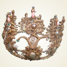 Theatrical headdress kings or queens crown for Swan Lake