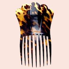 Classic Victorian faux tortoiseshell hair comb Spanish style hair accessory