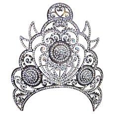Large Indonesian Java traditional rhinestone wedding tiara headdress