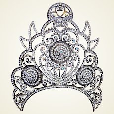 Large Indonesian Java traditional rhinestone wedding tiara headdress