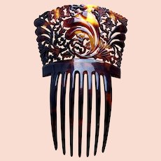 Victorian faux tortoiseshell hair comb Spanish style hair ornament
