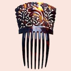 Victorian faux tortoiseshell hair comb Spanish style hair ornament