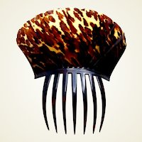 Regency tortoiseshell hair comb Spanish style hair accessory
