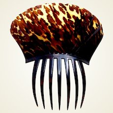 Regency tortoiseshell hair comb Spanish style hair accessory