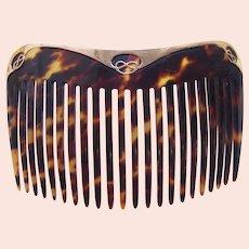 Art Nouveau hair comb 9 kt gold Art Nouveau design