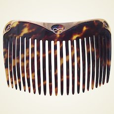 Art Nouveau hair comb 9 kt gold Art Nouveau design