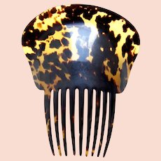 Victorian Spanish style tortoiseshell hair comb nicely marked hair ornament