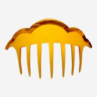 Art Dec hair comb amber celluloid hair accessory