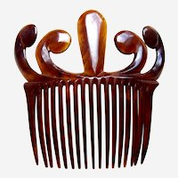 Faux tortoiseshell hair comb late Victorian hair accessory