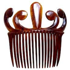 Faux tortoiseshell hair comb late Victorian hair accessory