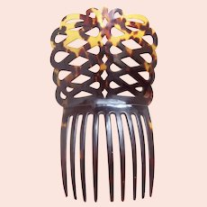 Victorian Spanish hair comb mantilla style hair accessory