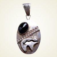Sterling silver pendant Robert Benally Native American Navajo artist