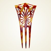 Late Victorian hair comb faux tortoiseshell hair accessory