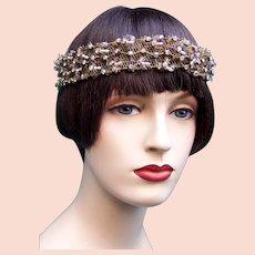 Art Deco rhinestone bandeau oriental style headband flapper headpiece