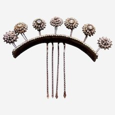 Indonesian traditional wedding hair comb or rhinestone headdress