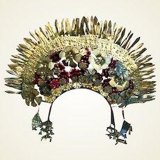 Indonesian traditional wedding headdress crown Java headpiece