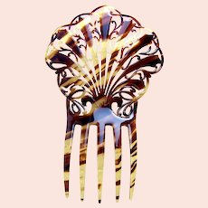 Victorian hair comb faux tortoiseshell Spanish style hair ornament
