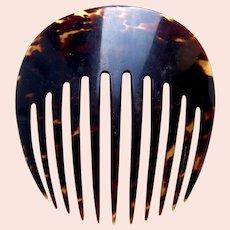 Victorian natural tortoiseshell hair comb Spanish style hair accessory