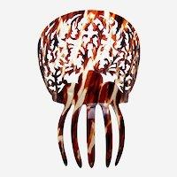 Spanish mantilla style hair comb faux tortoiseshell head piece headdress