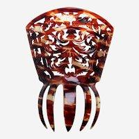 Spanish mantilla style hair ornament faux tortoiseshell headdress