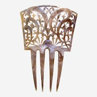 Art Deco hair ornament Spanish style celluloid hair comb