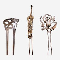 Three Chinese hair ornaments novelty hair pin ornament AAE