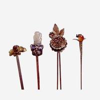 Four Chinese hair ornaments novelty hair pins ornament AAF