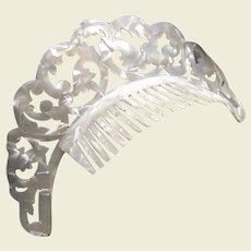 Art Deco tiara comb mother of pearl celluloid headdress