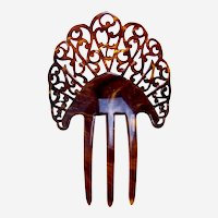Art Deco hair ornament faux tortoiseshell hair accessory