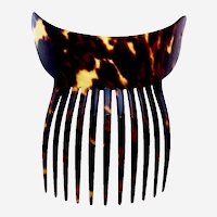 Late Victorian classic style hair comb faux tortoiseshell hair ornament