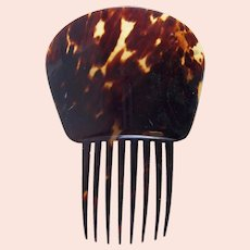 Victorian Spanish style hair comb natural tortoiseshell headdress
