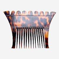 Ceylon (Sri Lanka) male tortoiseshell hair comb from Kandy hair accessory
