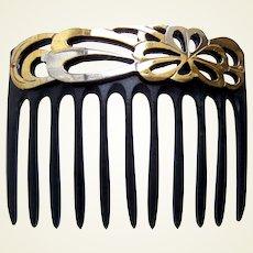 Art Nouveau Japanisme hair comb openwork design hair accessory