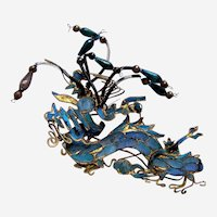 Chinese kingfisher feather hair ornament phoenix hair pin (AAA)