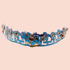 Chinese kingfisher feather tiara hair ornament headdress (AAF)