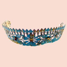 Chinese kingfisher feather tiara hair ornament headdress (AAH)