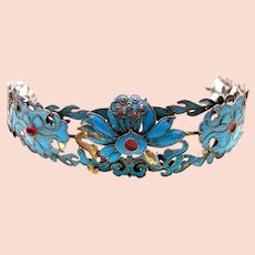 Chinese kingfisher feather tiara hair ornament headdress (AAI)