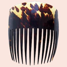 Victorian tortoiseshell hair comb nicely marked hair accessory