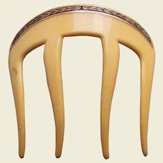 Art Deco hair comb enamel leaf design hair accessory