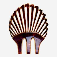 Art Deco hair comb black and white effect sunray hair accessory