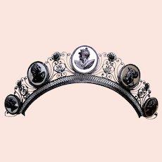 Berlin iron tiara Regency period headdress hair ornament