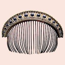 Regency tiara hair comb with faux pearls hair ornament