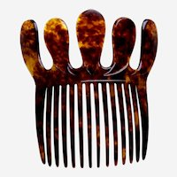 Victorian hair comb faux tortoiseshell decorative hair ornament